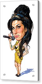 Amy Winehouse Acrylic Print by Art