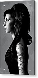 Amy Winehouse Artwork  2 Acrylic Print by Sheraz A