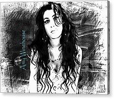 Amy Winehouse Acrylic Print by Barbara Chichester