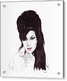 Amy Winehouse Acrylic Print by Martin Howard