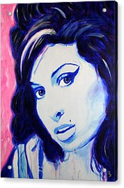 Amy Winehouse Pop Art Painting Acrylic Print