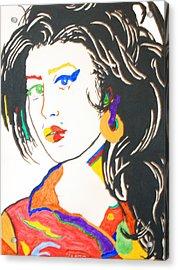 Amy Winehouse Acrylic Print by Stormm Bradshaw
