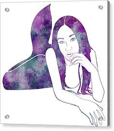 Amythest Mermaid Acrylic Print
