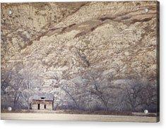 An Abandoned Farmhouse At The Base Acrylic Print by Roberta Murray