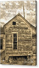 An Abandoned Old Shack Acrylic Print by Gregory Dyer