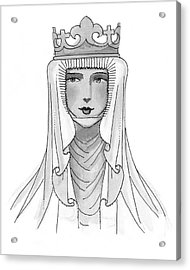 An Abbess Modeling A Historical Costume Acrylic Print