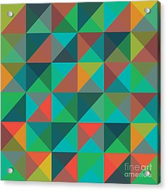 An Abstract Geometric Vector Pattern Acrylic Print
