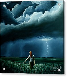 Acrylic Print featuring the painting An Act Of Love Between Heaven And Earth by Ric Nagualero