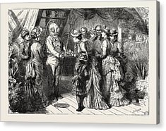 An Afternoon Party On Board H.m.s Acrylic Print by English School