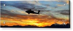 An Ah-64 Apache Acrylic Print by Paul Fearn