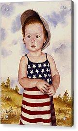 An All American Girl Named Ireland Acrylic Print by Sam Sidders