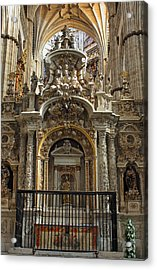 Acrylic Print featuring the photograph An Alter In The Salamanca Cathedral by Farol Tomson