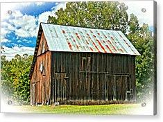 An American Barn 2 Oil Acrylic Print by Steve Harrington