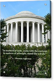 An American Founding Father Acrylic Print by Emmy Marie Vickers