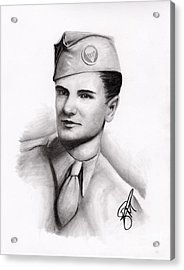 An American Hero Acrylic Print by Rosalinda Markle