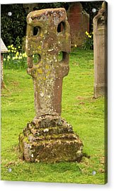 An Ancient Stone Cross Acrylic Print by Ashley Cooper
