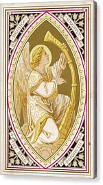 An Angel Plays A Harp          Date Acrylic Print by Mary Evans Picture Library