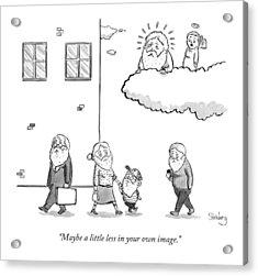 An Angel Says To God Acrylic Print