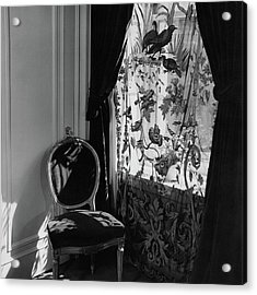 An Antique Chair By A Window Acrylic Print