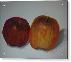 An Apple A Day Acrylic Print by Kat Poon