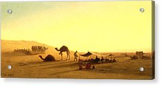 An Arab Encampment  Acrylic Print