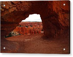 An Arch Foreground The Pillars Acrylic Print by Jeff Swan