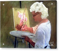 An Artist At Work Acrylic Print by Sharon Burger