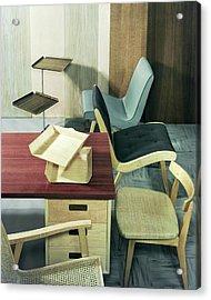 An Assortment Of Office Furniture Acrylic Print