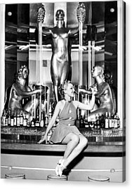 Sexy Woman On The Bar Acrylic Print
