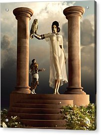 An Audience With Athena Acrylic Print