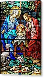 An Authentic Merry Christmas Acrylic Print by Bonnie Barry