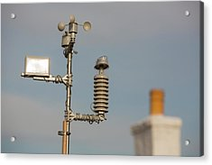 An Automated Weather Station Acrylic Print by Ashley Cooper