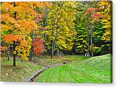 An Autumn Childhood Acrylic Print by Frozen in Time Fine Art Photography