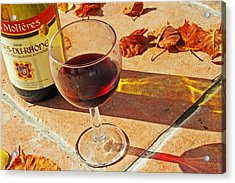 An Autumn Glass Of Red Acrylic Print by Georgia Fowler