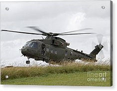 An Aw101 Merlin Helicopter Of The Royal Acrylic Print by Ofer Zidon