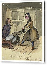 An Awkward Predicament Circa 1862 Acrylic Print by Aged Pixel