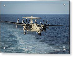 An E-2c Hawkeye Prepares To Land Acrylic Print by Stocktrek Images
