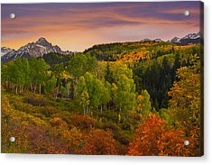 An Early Fall Morning Acrylic Print