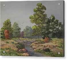 An East Texas Creek Acrylic Print by Wanda Dansereau