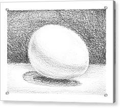 An Egg Study One Acrylic Print by Irina Sztukowski