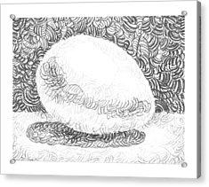 An Egg Study Three Acrylic Print by Irina Sztukowski