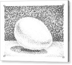 An Egg Study Two Acrylic Print by Irina Sztukowski
