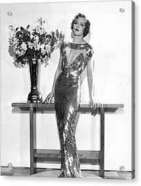 An Elegant Evening Gown Acrylic Print by Underwood Archives