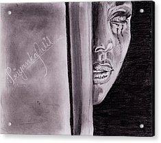 An Emotional Girl Acrylic Print by Priyanka Patil
