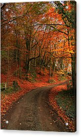 An English Autumn Acrylic Print