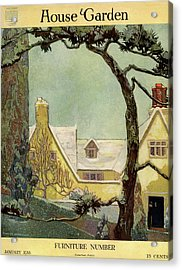 An English Country House Acrylic Print