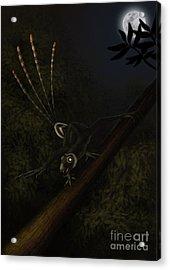 An Epidexipteryx Reacts Aggressively Acrylic Print by Alvaro Rozalen