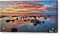 An Evening At The Beach Acrylic Print