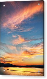 An Evening Fishing At Chester Frost Acrylic Print