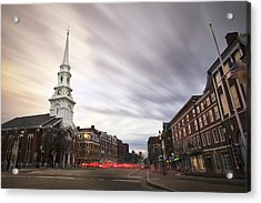 An Evening In Market Square Acrylic Print by Eric Gendron